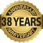 38 years anniversary badge