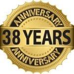 38 years anniversary badge
